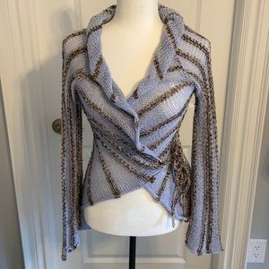 Gorgeous hand knit cardigan. Size small.